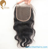 Virgin Human Hair Middle Part Lace Closure with Baby Hair