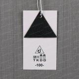 Custom Round Hole Paper Name Impressão de vestuário Plastic Hang Tag