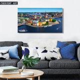 Pittura a olio del centro della stampa della tela di canapa di vista della città della stampa di HD