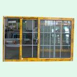Окно с окном решетки сползая, алюминиевое окно K01087 порошка Coated алюминиевое сползая