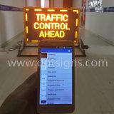 La muestra al aire libre de la visualización de LED, vehículo montó la tarjeta de mensaje superior de la muestra del coche LED