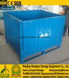 De vouwbare Stapelbare Container van de Pallet van het Metaal Bulk, de GolfKooi van de Pallet van de Plaat