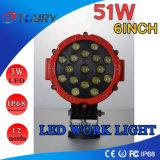 크리 사람 LED 모는 빛 6inch 51W LED 반점 트럭 작동 빛