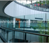 vidrio laminado del claro de la seguridad de 4+0.38+4m m PVB