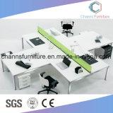 Poste de travail fonctionnant de bureau d'ordinateur de bureau de couleur de meubles blancs de mélamine