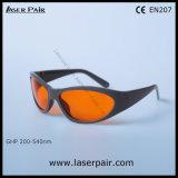 Tipo elegante de vidros de segurança de /Laser dos óculos de proteção protetores do laser 200-540nm para os lasers 532nm verdes com frame 55