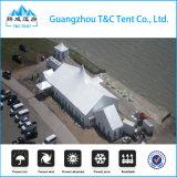 Tienda mezclada del banquete de boda del alto pico del marco de aluminio de 1000 personas con el sistema y la cortina de enfriamiento