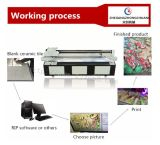 De UVPrinter Flatebed van China voor Glas van het Aluminium van het Metaal van het Leer het Plastic