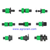 Положенный PVC плоский переходника Offtake шланга для ленты потека 16mm