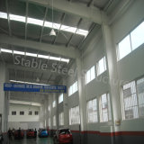 Loja comercial pré-fabricada da construção de aço com projeto moderno