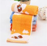 単一の小さい正方形の綿の赤ん坊のタオル