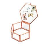 De hoge Glanzende Doos van de Gift van de Juwelen van het Glas van de Douane Met de hand gemaakte Vouwende Elegante