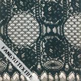 円形および花デザイン綿のナイロンレースファブリック