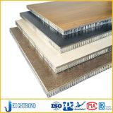 Comitato di alluminio di marmo di pietra nero del favo per i materiali da costruzione
