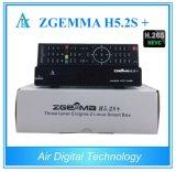 El rectángulo mundial Zgemma H5.2s de los canales TVAD de Europa más Multistream se dobla los sintonizadores triples de la base Hevc/H. 265 DVB-S2+DVB-S2X/T2/C