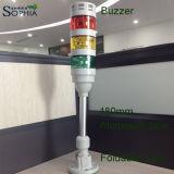 IP67 tres pilas del LED de la señal de la torre de la luz de la luz de la señal sonora 3 años de garantía