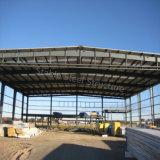Capannone prefabbricato dell'azienda agricola della struttura d'acciaio con grande spazio