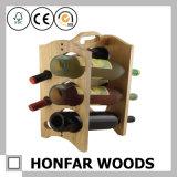 Crémaillère d'étalage en bois de vin de crémaillère de vin de bouteille en bois de pin 12