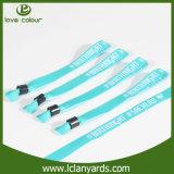 Wristband direto da tela de China da fábrica com grampo plástico