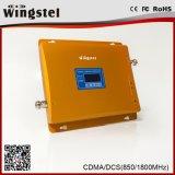 Aumentador de presión dual de la señal del teléfono móvil de las redes 2g 3G 4G de la venda 850/1800MHz