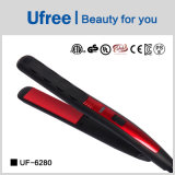 Do ferro liso vermelho do cabelo de Ufree UF-6280 Straightener ergonómico do cabelo