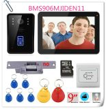 sonnette de téléphone de porte de vidéo de couleur de l'IDENTIFICATION RF 900tvl de l'enregistrement 9inch