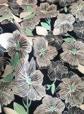 Tela 100% da pele do pêssego da tela da impressão da flor do poliéster para o Short da praia