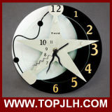 Horloge blanc de sublimation de panneau dur de forces de défense principale de lumière blanche