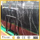 Mármol negro natural barato de China Nero Marquina/losas de piedra