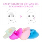 Maquiagem Facial Cleansing Pad Silicone Powder Brush