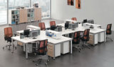 Modernes L Form-hölzerne Büropersonal-Arbeitsplatz-Partition
