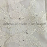 Gasa de seda del Crepe del bordado para señora Dress Fabric