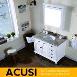 Neue erstklassige Großhandelsqualitäts-amerikanische einfache Art-festes Holz-Badezimmer-Eitelkeits-Badezimmer-Schrank-Badezimmer-Möbel (ACS1-W55)