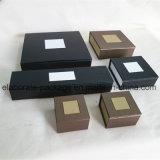 Caja de cartón hecha a mano del rectángulo de joyería del diseño especial