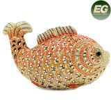 Bolso elegante cristalino de lujo de piedra Leb723 de las señoras de bolso de tarde de los pescados pequeño