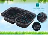2 contenitore di alimento di plastica a gettare dello scompartimento 1000ml, 10 pacchetti