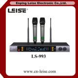 Ls-993 Microfoon van de Karaoke van 2 Kanalen de UHF Draadloze