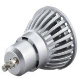 luz de bulbos brillante estupenda 5.5W GU10 Dimmable proyector caliente/blanco del LED de 220V 110V MR16 ED de la lámpara de la luz GU10 LED
