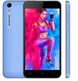 Couleur initiale de bleu de smartphone déverrouillée 5.0 pouce de Homtom Ht16 par 13.0MP de ROM 1.3GHz du RAM 16GB du faisceau 2GB de quarte de l'androïde 6.0 4G Mtk6737 de PRO
