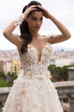 Линия/платье венчания Шампань втулки Princess Tulle полное