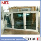 ローラーの蚊帳が付いている染められた二重ガラスをはめられたアルミニウムフレームの開き窓のWindows