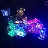 Vlinder 20 Draad van het LEIDENE het Batterij In werking gestelde Licht van het Huwelijk van Kerstmis van de Partij van de Fee van het Koord van de Micro- Koper