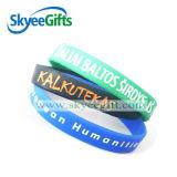 Wristband colorido relativo à promoção de Debossed do silicone do encanto