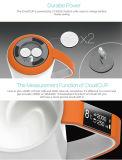 Tasse en céramique blanche de double mur intelligent avec le Bluetooth intégré