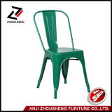 Трактир стулов зеленого Stackable внезапного металла мебели крытый напольный