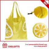 sac à provisions se pliant de citron du polyester 190t pour le supermarché