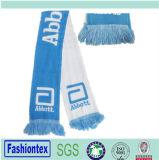 Изготовленный на заказ акриловый связанный шарф потех команды футбола жаккарда