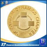Gold überzogene Herausforderungs-Münze für Andenken oder Förderung