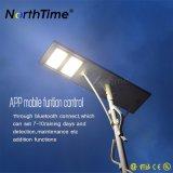 5 anos de luz de rua solar Integrated ao ar livre da garantia com controle do APP