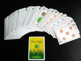 Cartões de jogo de papel do póquer do golfe do jogo nove personalizado